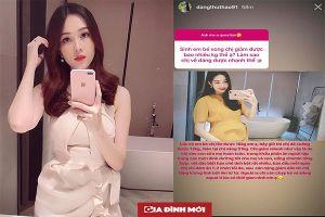 Hoa hậu Đặng Thu Thảo tiết lộ bí quyết giảm 13 kg sau 1 tháng sinh con