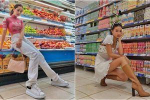 Cùng 'ngồi' trong siêu thị, Quỳnh Anh Shyn nhận được mưa lời khen, Chi Pu bị 'ném đá' dữ dội vì kém duyên