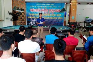 Sôi nổi Giải bida phong trào Đoàn Thanh niên Công ty Than Thống Nhất - TKV