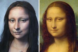 'Đứng hình' với cô gái tự biến mình thành Mona Lisa