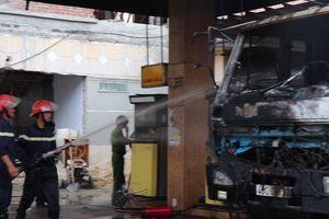 Hiện trường vụ cháy cây xăng ở Quảng Nam
