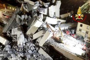 Video chưa từng công bố về khoảnh khắc sập cầu kinh hoàng ở Italy khiến 43 người chết