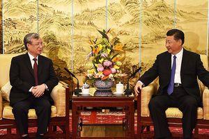 Chủ tịch TQ tiếp thường trực Ban bí thư Trần Quốc Vượng