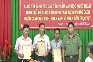 Công an tỉnh Bình Thuận trao giải Cuộc thi sáng tác theo chủ đề