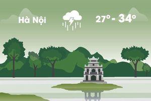 Thời tiết ngày 23/8: Hà Nội và Sài Gòn cùng mưa dông rải rác