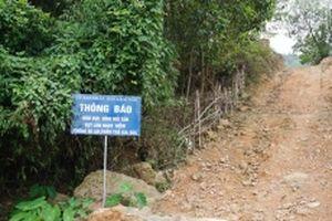 Nỗi lo sụt lở núi Tán ở Thái Nguyên