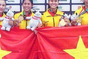 4 cô gái 'vàng' Rowing nói gì khi giải cơn khát vàng ASIAD 18?
