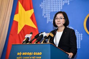 Phó Phát ngôn Bộ Ngoại giao Nguyễn Phương Trà trả lời về việc Đài Loan bắn đạn thật tại đảo Ba Bình