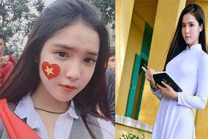 Fan girl quá xinh đẹp của U23 Việt Nam khiến dân mạng đổ rầm rầm