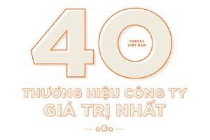 Forbes công bố 40 thương hiệu giá trị nhất Việt Nam