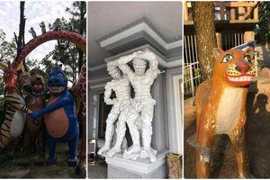 Xôn xao trước những bức tượng 'độc, dị, lạ' trong công viên ở Hải Phòng