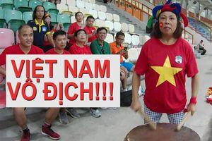 Tuyệt vời 'cầu thủ thứ 12' của Olympic Việt Nam trên khán đài ASIAD