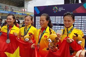 Tuyển rowing nữ Việt Nam giành thêm huy chương bạc