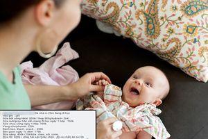 Tranh cãi gay gắt với bảng chi tiêu riêng cho con 6 tháng tuổi hết 7 triệu/tháng