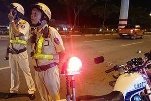 Nam thanh niên tông xe vào Đại úy CSGT đang làm nhiệm vụ