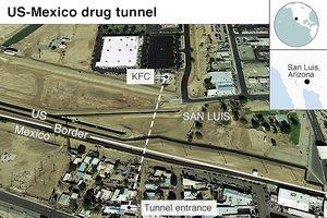 Phát hiện đường hầm ma túy nối từ Mỹ sang Mexico