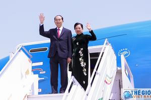 Chủ tịch nước và Phu nhân lên đường thăm Ai Cập