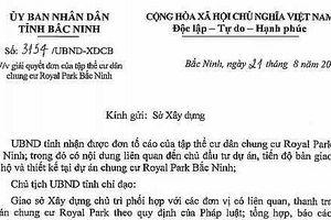 Sau xử phạt về PCCC, dự án Royal Park Bắc Ninh tiếp tục bị thanh tra