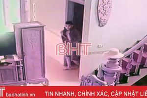 Camera ghi cảnh tên trộm 'lượn' trong nhà dân sáng ngày Rằm ở Hà Tĩnh