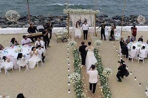 Lộng lẫy khi thử đồ là thế, Nhã Phương mặc váy cưới trong ngày đính hôn như thế nào?