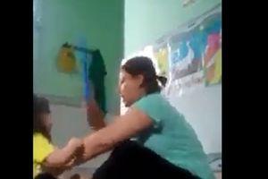 Phẫn nộ bảo mẫu bạo hành 3 trẻ ở trường tư thục