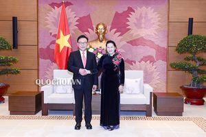 Một số hình ảnh Chủ tịch Quốc hội tiếp Tổng lãnh sự Danh dự Việt Nam tại khu vực busan-gyeongnam, Hàn Quốc