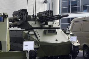 Robot Uran-9 của Nga được bổ sung thêm tên lửa nhiệt áp Shmel-M