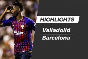 Highlights Dembele ghi bàn, Barca nhọc nhằn giành 3 điểm