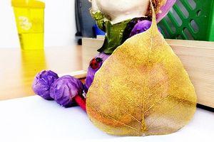 Mục sở thị lá bồ đề dát vàng hút khách tháng cô hồn