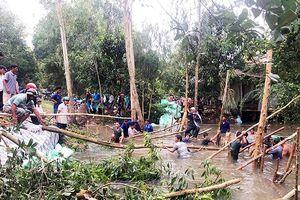 An Giang: Khắc phục sự cố vỡ miệng cống kênh Vĩnh Tế, cứu 150ha lúa