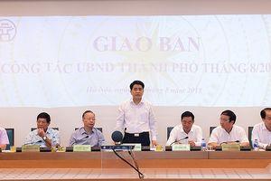 Chủ tịch UBND TP Nguyễn Đức Chung: Hà Nội phải đảm bảo an toàn tuyệt đối trong dịp nghỉ lễ Quốc khánh