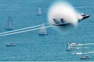 Hình ảnh hiếm khi F-35 phá tường âm thanh