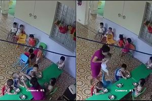 Đuổi việc cô giáo nhồi nhét thức ăn và đánh bé trai hơn 2 tuổi ở Hà Nội