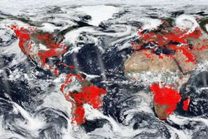 NASA công bố ảnh vệ tinh Trái Đất chìm trong biển lửa