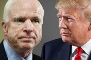 Tổng thống Trump không được mời dự lễ tang Thượng nghị sĩ McCain
