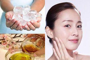 Dùng viên đá lạnh mát xa đúng cách mỗi ngày, da mặt căng bóng, trắng hồng không khuyết điểm sau 1 tuần