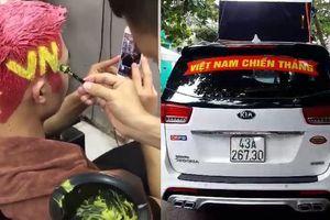 Clip: Dân mạng nhuộm tóc sặc sỡ, trang trí ô tô rực rỡ cổ vũ U23 Việt Nam