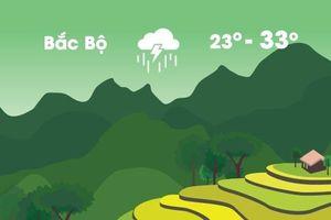 Thời tiết ngày 28/8: Mưa lớn diện rộng ở miền Bắc