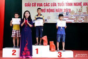 Bế mạc Giải cờ vua các lứa tuổi tỉnh Nghệ An mở rộng năm 2018