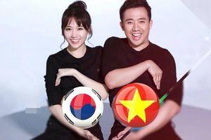 Trước trận đấu sinh tử Việt Nam - Hàn Quốc, Hari Won nhức óc vì không biết cổ vũ cho quê chồng hay quê mình!