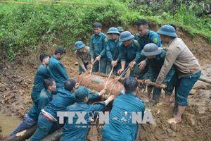 Hủy nổ quả bom Mỹ nặng 350 kg nằm gần đường sắt Hà Nội - Lào Cai