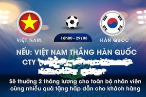 Bán kết ASIAD 18: DN thưởng hàng chục triệu cho nhân viên khi U23 Việt Nam chiến thắng