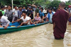 Vỡ đập ở Myanmar, hơn 50.000 người sơ tán