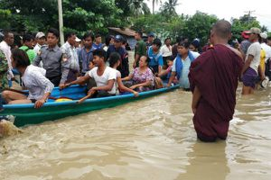 Vỡ đập ở Myanmar gây lũ lụt, đường cao tốc bị phong tỏa