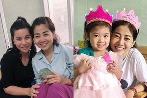 Đến bệnh viện trao tiền ủng hộ, Cát Phượng tiết lộ 'mầm mống ung thư của Mai Phương đang teo lại'