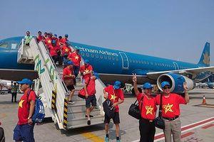Olympic Việt Nam về nước bằng chuyên cơ riêng