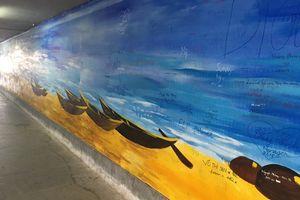 Bích họa ở hầm chui cầu Rồng Đà Nẵng thành thảm họa nghệ thuật
