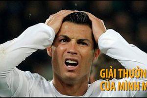 Ronaldo cay cú vì mất giải thưởng vào tay Modric
