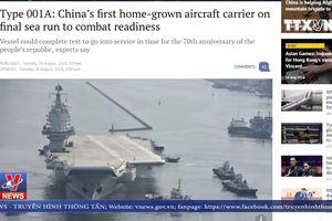 Trung Quốc thử nghiệm thành công tàu sân bay tự đóng