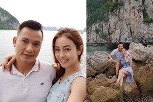 Jennifer Phạm e ấp bên chồng trong chuyến du lịch cùng gia đình ở Hạ Long